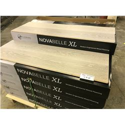 NOVABELLE XL BROADWAY OAK ENGINEERED FLOORING APPROX. 28 BOXES, 683 SQ FT.