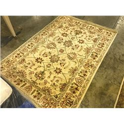 TAUPE SARUGH ANTIQUE PATTERNED AREA RUG 6' X 4' GALLERY PRICE $2580