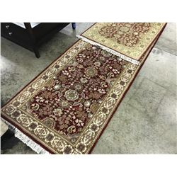 RED AND TAN KASHMIR ARE RUG 10' X 2.5' GALLERY PRICE $880.00