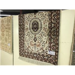 RED AND BLUE KASHMIR SINK CARPET 3.5' X 2.5' GALLERY PRICE $880