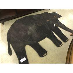 BROWN WOOL ELEPHANT AREA RUG 6' X 4' GALLERY PRICE $1280