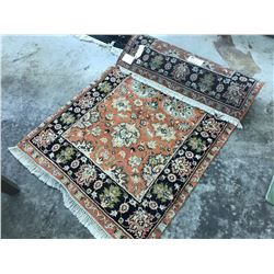 ALLABATER FLORAL ANTIQUE STYLE CARPET 5' X 3' GALLERY PRICE $1710