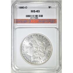 1880-O MORGAN DOLLAR, AGP CH BU