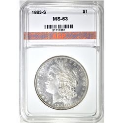 1883-S MORGAN DOLLAR, AGP CH BU