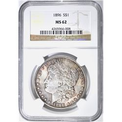 1896 MORGAN DOLLAR, NGC MS-62