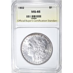 1902 MORGAN DOLLAR, OBCS  GEM BU