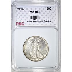 1933-S WALKING LIBERTY HALF DOLLAR  RNG GEM BU