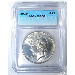 1925 PEACE DOLLAR  ICG MS-66