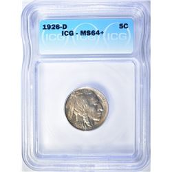 1926-D BUFFALO NICKEL  ICG MS-64+