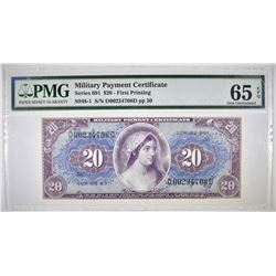SERIES 691 $20 MPC FIRST PRINTING  PMG 65 EPQ