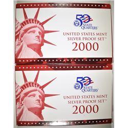 2-2000 U.S. SILVER PROOF SETS IN ORIG PACKAGING