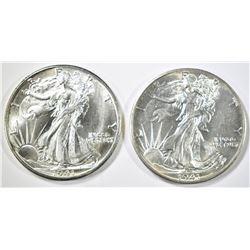 1941-P,D WALKING LIBERTY HALF DOLLARS CH BU NICE!