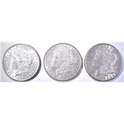 1878-S, 89 & 96 CH BU MORGAN DOLLARS