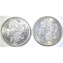 1881-O & 82 MORGAN DOLLARS BU
