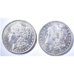 1882-O & 1883-O CH BU MORGAN DOLLARS