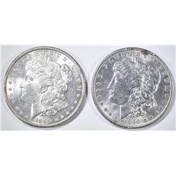 1889 & 90 MORGAN DOLLARS CH BU