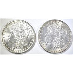 1899-O, 1900-O MORGAN DOLLARS CH BU