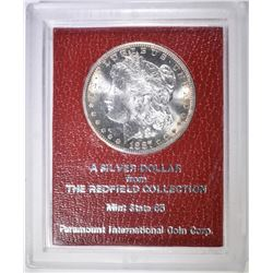 1887-S MORGAN DOLLAR REDFIELD PARAMOUNT HOLDER