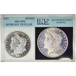 1891 MORGAN DOLLAR, INS CH BU PL