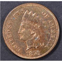 1876 INDIAN CENT  CH/GEM BU  RB