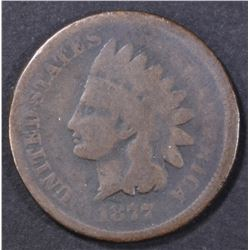 1877 INDIAN CENT  VG RB