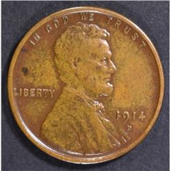 1914-D LINCOLN CENT  XF/AU  RD