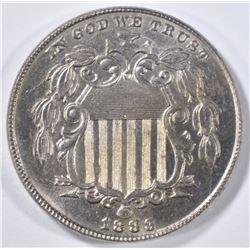 1883 SHIELD NICKEL  GEM BU
