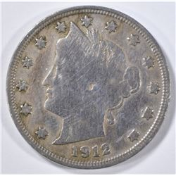 1912-S LIBERTY NICKEL  FINE