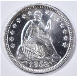 1853 ARROWS HALF DIME  CH BU