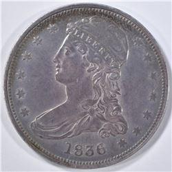 1836 REED EDGE HALF DOLLAR  XF