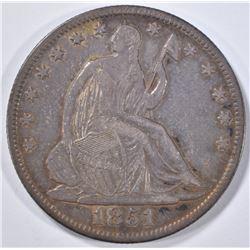 1851-O SEATED HALF DOLLAR  AU