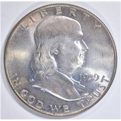 1949 FRANKLIN HALF DOLLAR  GEM UNC  FBL