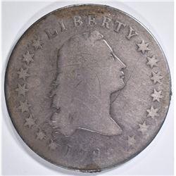 1795 FLOWING HAIR DOLLAR  FINE   OLD RESIDUE