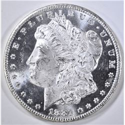 1881-CC MORGAN DOLLAR  GEM BU PL