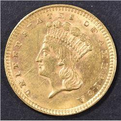 1857 $1 GOLD INDIAN PRINCESS  CH UNC