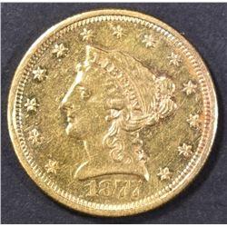 1877-S $2.5 GOLD LIBERTY  BU