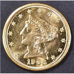 1906 $2.5 GOLD LIBERTY  CH BU  PL