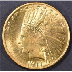 1911 $10 GOLD INDIAN  GEM BU