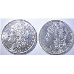 1879 & 1904-O MORGAN DOLLARS   BU