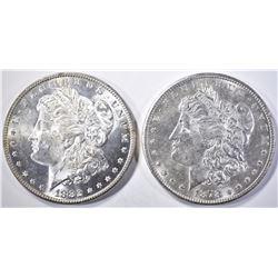 1882 & 1878-S MORGAN DOLLARS  BU   BETTER DATES