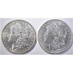1900-O & 1904-O MORGAN DOLLARS   BU