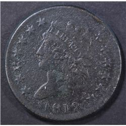 1812 LARGE CENT, F/VF corrosion
