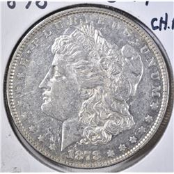 1878 8TF MORGAN DOLLAR CH AU