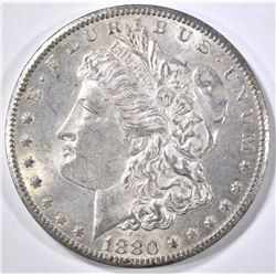 1880-CC MORGAN DOLLAR, AU/BU
