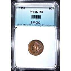 1905 INDIAN CENT, EMGC GEM PROOF RB