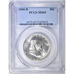 1960-D FRANKLIN HALF DOLLAR PCGS MS-65