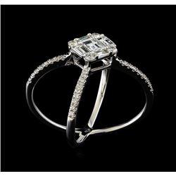 1.07 ctw Diamond Ring - 18KT White Gold