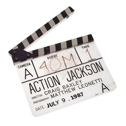 Action Jackson - Production Used Clapper Board - IV164