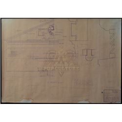 Back To The Future - Original Production Used Clock Tower Blueprint - IV250