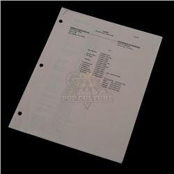 Cobb - Staff & Crew List - IV162